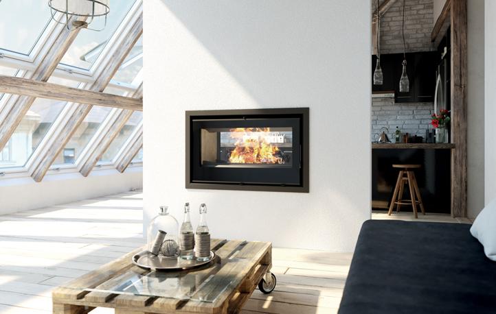 Axis I1000 IB Double Sided Wood Heater