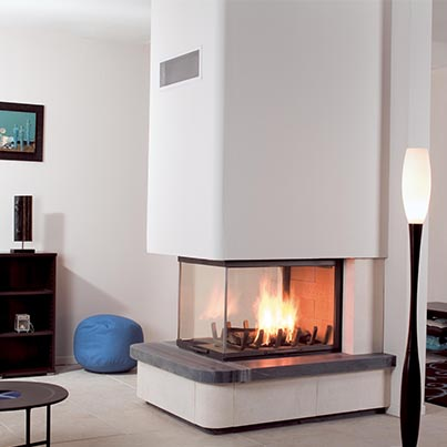 Axis EPI950 three sided wood fireplace