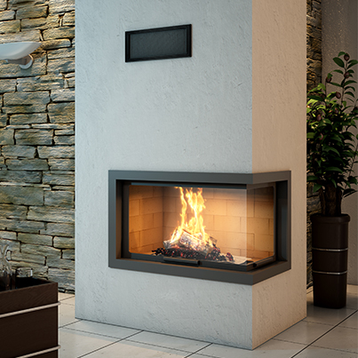 Axis H1200 VLD Two Sided Wood Fireplace