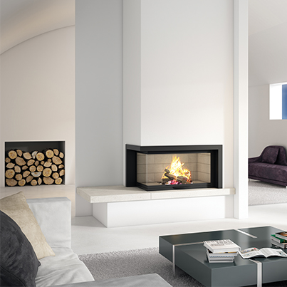 Axis H1200 VLG Two Sided Wood Fireplace