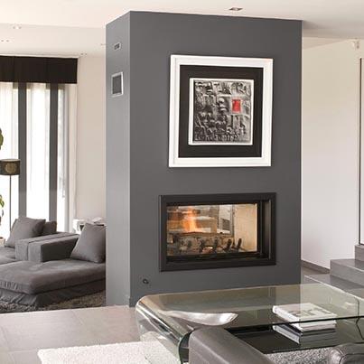 Axis H1200 DS inbuilt wood fireplace