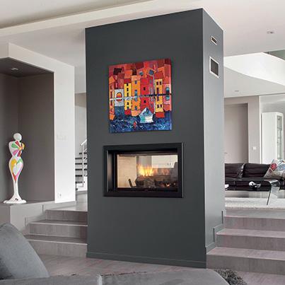 Axis H1600 DS Inbuilt Wood Fireplace