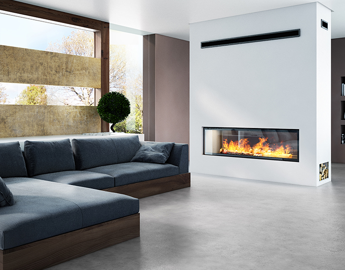 Axis H1600XXL DS Double Sided Inbuilt Wood Fireplace