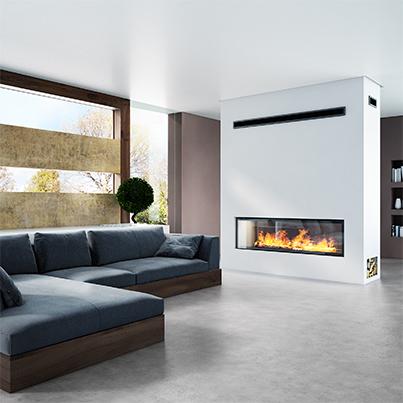 Axis H1600XXL DS Inbuilt Wood Fireplace