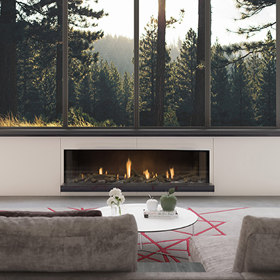 Escea DS1650 Single Sided Gas Fireplace
