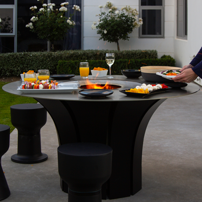 Escea EP1350 Outdoor Wood Fire Table - Woodpecker Heating, Cooling, Fireplaces & BBQ's