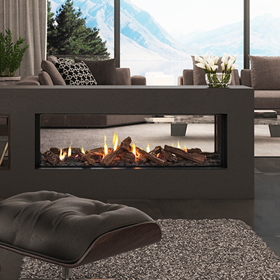 Escea DS1400 Double Sided Gas Fireplace