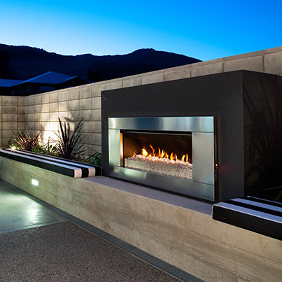Escea EF5000 Outdoor Fireplace - Woodpecker Heating, Cooling, Fireplaces & BBQ's