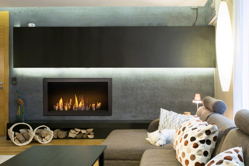 Icon Fires Black Commercial XL Firebox