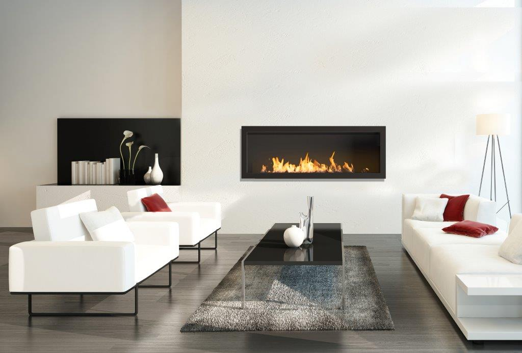 Icon Fires Stainless Steel Firebox SFB1100 Slimline