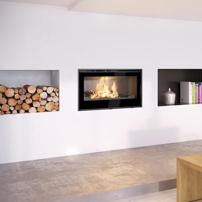 Axis I1000IB Single Sided Wood Fireplace