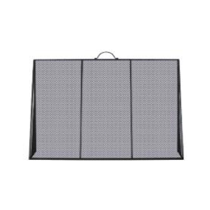 Large Black Sloping Fire Screen
