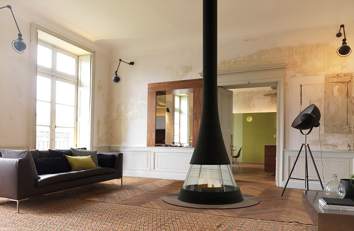 Bordelet Linea 914 Suspended Fireplace