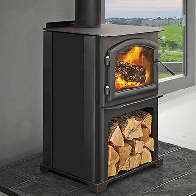 Quadra-Fire 3100LE Woodpecker Heating Cooling Fireplace BBQs