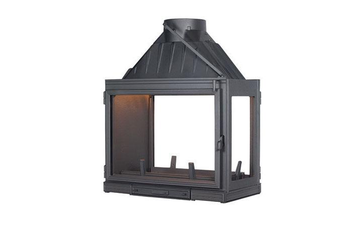 Seguin Multivision 8000 Three Sided Cast Iron Cheminee fireplace