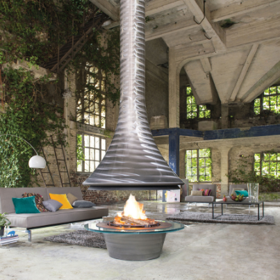 Bordelet Eva Sculpt Woodpecker Heating Fireplace