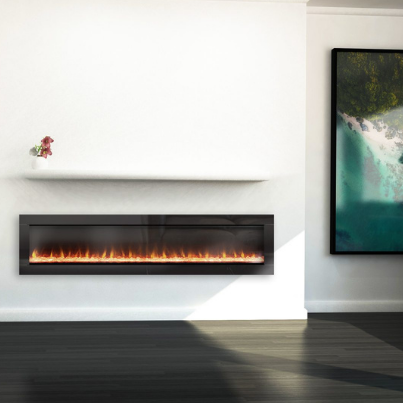 Ambe Linear 72 Electric Fireplace - Woodpecker Heating, Cooling, Fireplaces & BBQ's