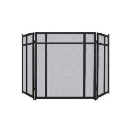 Linear Ornate 3 Panel Fire Guard