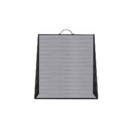 Small Black Sloping Fire Screen