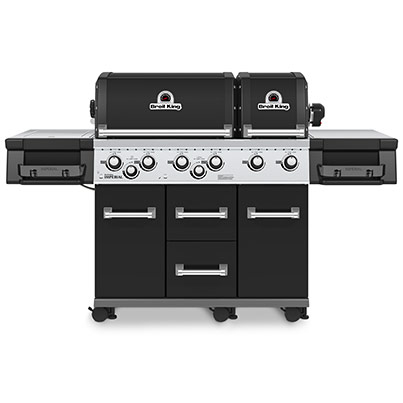 Broil King Imperial XL Black Woodpecker Heating Cooling Fireplace BBQs