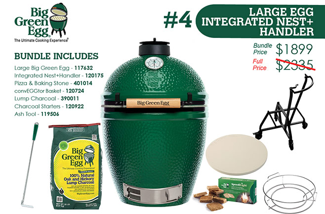 Free rub and sauce with a Big Green Egg