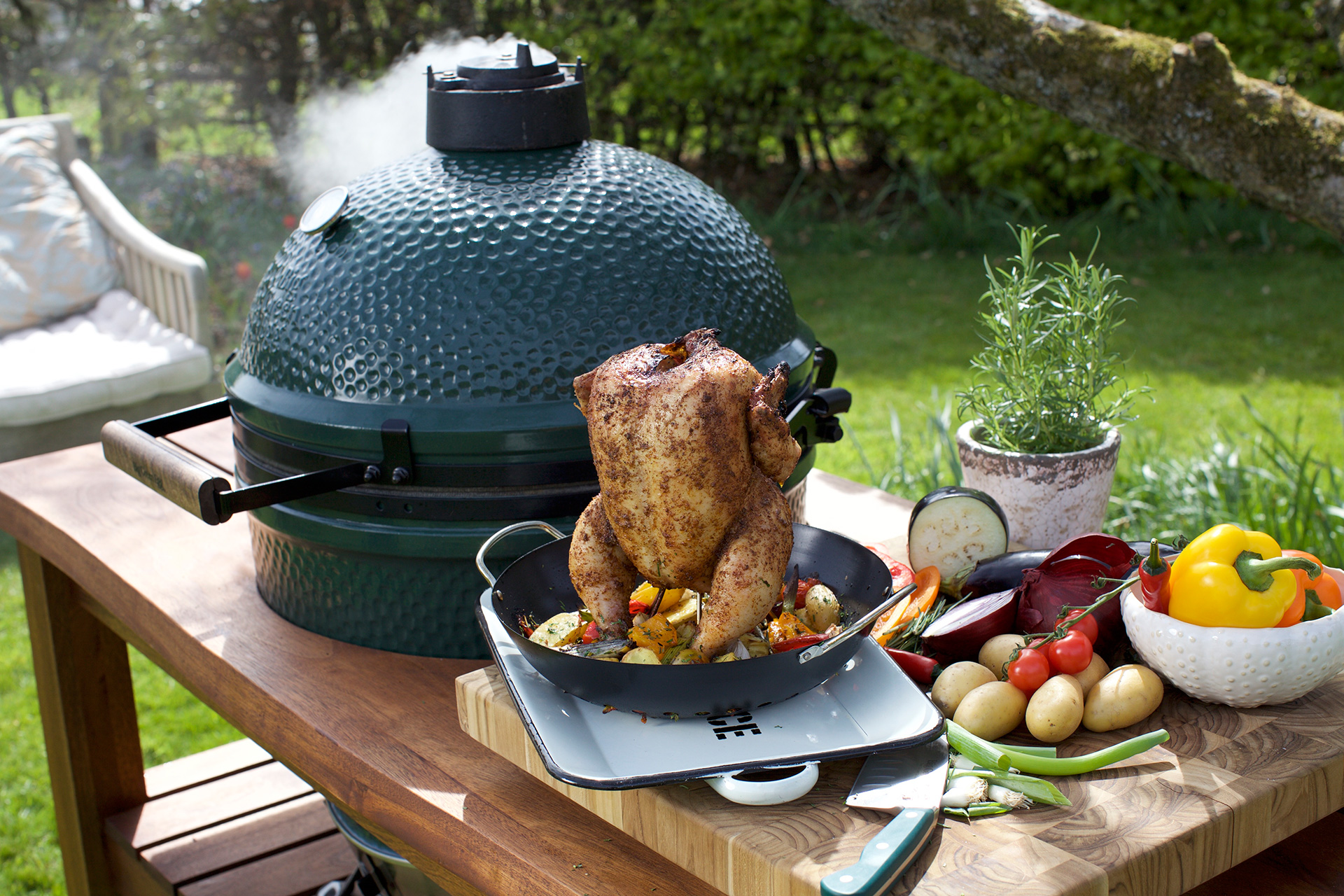Big Green Egg Roasted Turkey