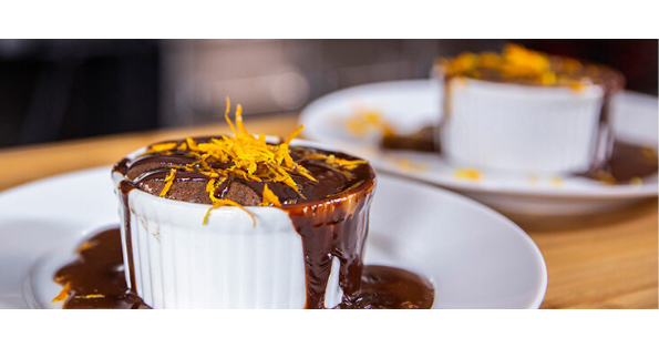 Broil King Chocolate Apricot Brandy Soufflé