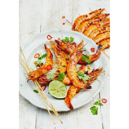 Big Green Egg Grilled Coconut Prawns