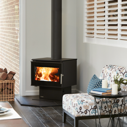 Australian Made Eureka Fireplaces Support Local Wood Heater - Woodpecker Heating, Cooling, Fireplaces & BBQ's