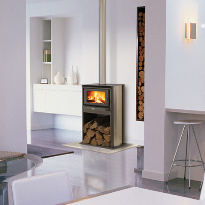 Kemlan Tempo Stack Freestanding Wood Fireplace - Woodpecker Heating, Cooling, Fireplaces and BBQ's