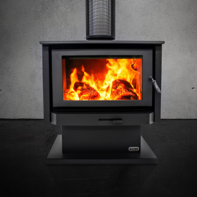 Kemlan Tempo Grand Freestanding Wood Fireplace - Woodpecker Heating, Cooling, Fireplaces and BBQ's