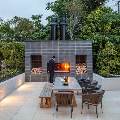 Escea EK950 Outdoor Fireplace - Woodpecker Heating, Cooling, Fireplaces & BBQ's