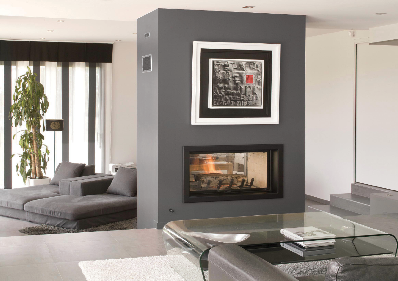 Axis H1600 Double Sided Wood Fireplace - Woodpecker Heating, Cooling, Fireplaces & BBQ's