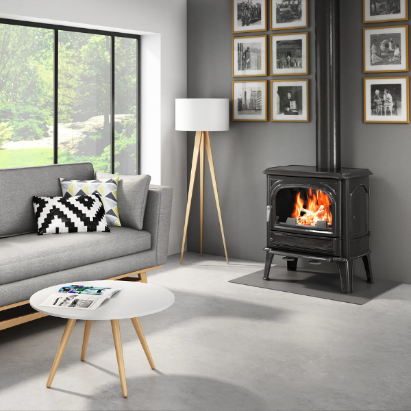 Seguin Saphir Cast Iron Wood Stove Fireplace - Woodpecker Heating, Cooling, Fireplaces & BBQ's