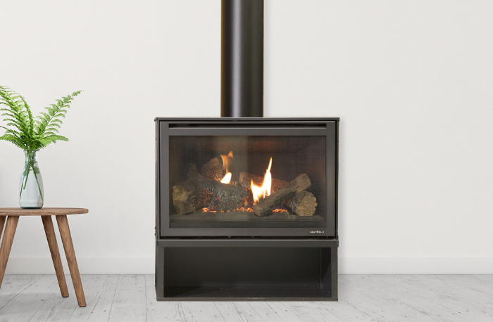 Heat & Glo i30x Freestanding Gas Fireplace - Woodpecker Heating, Cooling Fireplaces & BBQ's