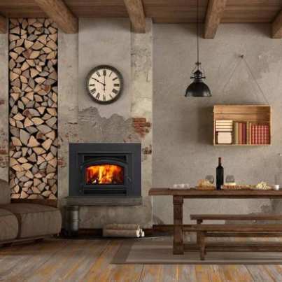 Quadra-Fire Expedition II Insert - Woodpecker Heating, Cooling, Fireplaces & BBQ's
