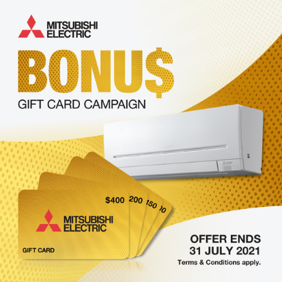 MITSUBISHI GIFT CARD - Woodpecker Heating Cooling Fireplaces BBQs