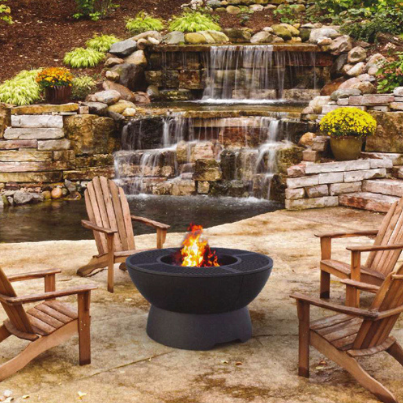 Hergom Outdoor Firepit Grill Woodpecker heating Cooling Fireplace BBQs
